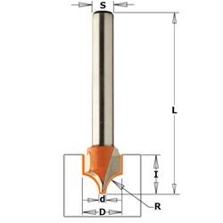Фреза радиусная профиль А хвостовик 8мм CMT - фото 21009