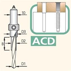 Сверло сборное трёхступенчатое хвостовик 10мм Тип A DIMAR - фото 35827
