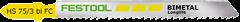 Пилки для лобзика HS 75/3 BI-FC/5X 5шт. Festool - фото 4987
