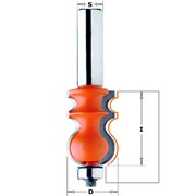 Фреза мультипрофильная хвостовик 12 мм подш. CMT