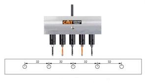 Сверильный редуктор на 5 сверел (System32) CMT