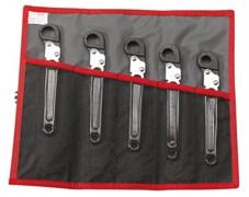 Набор ключей трубных с трещоткой 14-19мм Facom 5шт
