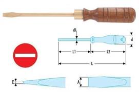 Отвертка шлицевая 3-13мм искробезопасная SR Facom