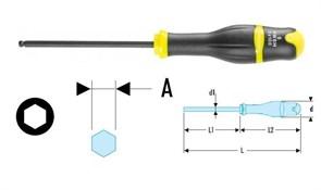Ключ торцовый шестигранный флуоресцентный с рукояткой PROTWIST® Facom
