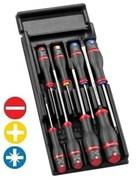 Модуль отверток PROTWIST® шлицевых и отверток под винты с крестовидной головкой Phillips® и Pozidriv® Facom