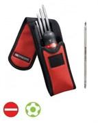 Компактный комплект отверток PROTWIST® из рукоятки держателя и рабочих частей шлицевых и крестовых отверток различных размеров Facom
