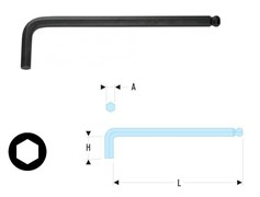 Ключ торцовый шестигранный длинный с круглой головкой Facom