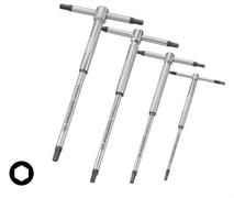 Комплект ключей торцевых шестигранный Т-образных с 3-мя рабочими частями для быстрой затяжки Facom