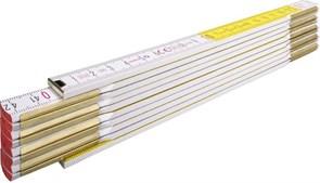 Метр складной деревянный 2м бело-желтый Stabila