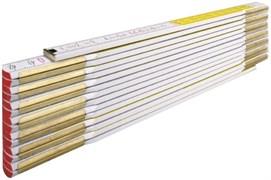 Метр складной деревянный 3м бело-желтый Stabila