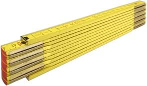 Метр складной деревянный 2м желтый Stabila