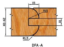 Комплект фрез для дверей DFA-A d=32 Aquila