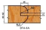 Комплект фрез для дверей DFA-6A d=32 Aquila