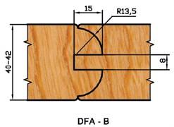 Комплект фрез для дверей DFA-B d=32 Aquila