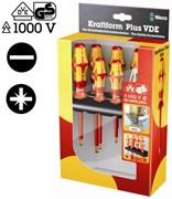 Набор отверток 1000V VDE WERA шлиц+PZ 7шт