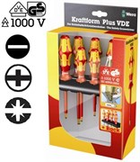 Набор отверток 1000V VDE шлиц+PH+PlusMinus-PH 7шт