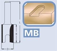 Фреза пазовая цилиндрическая хвостовик 6мм DIMAR