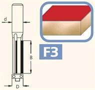 Фреза обгонная трёхзубая хвостовик 6-8 DIMAR