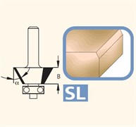 Фреза для снятия фасок 15-45° хвостовик 8мм DIMAR