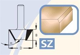 Фреза фасочная 22-45° Z3 хвостовик 12мм DIMAR