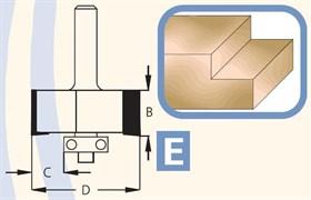 Фреза для выборки четверти хвостовик 8мм DIMAR