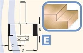 Фреза для выборки четверти хвостовик 12мм DIMAR