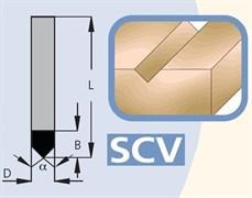 Фреза канавочная V-образная хвостовик 6мм DIMAR