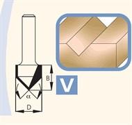 Фреза канавочная V-образная хвостовик 12мм DIMAR