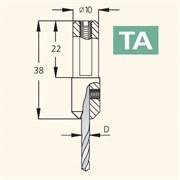 Переходник для сверл хвостовик 10 мм DIMAR