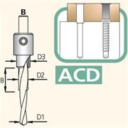 Сверло сборное трёхступенчатое хвостовик 10мм Тип B DIMAR