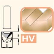 Фреза канавочная V-образная 60° хвостовик 6мм WoodPecker DIMAR