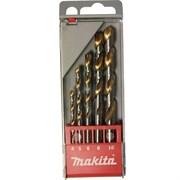 Набор сверл по металлу HSS-TIN 4-10мм 5шт Makita