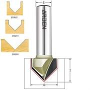Фреза пазовая c углом 90-120° хвостовик 8-12мм серия 200 ARDEN