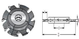 Фреза пазовая регулируемая S=30 D=120-150 DIMAR