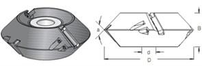 Фреза кромочная фальцовочная S=30 D=160x56 DIMAR