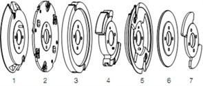 Фреза профиль-контрпрофиль набор (A,B) D=120x20-35 DIMAR