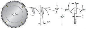 Диск циркулярный 300x30x3,2мм для алюминия и акрила MSAN Dimar