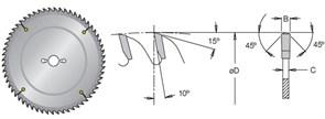 Диск циркулярный 160x20x2,8мм для алюминия Dimar