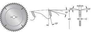 Диск циркулярный 300x30x2,3мм Z48 для древесины MWD