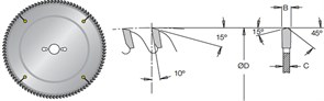 Диск циркулярный 300x30x3,2мм для ЛДСП DIMAR