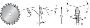 Диск циркулярный 120x20x3,2-4,1 подрезной DIMAR