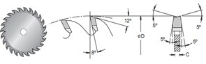 Диск циркулярный 120x20x3,2-4,1 Z24 подрезной