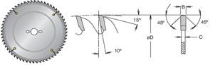 Диск циркулярный 120x22x3,2-4,1 для ЛДСП DIMAR