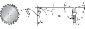 Диск циркулярный 300x30x3,2 для ЛДСП DIMAR