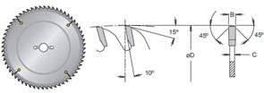 Диск циркулярный 250x30x3,2 для ЛДСП MS DIMAR
