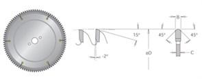 Диск циркулярный 300x30x3,3 для пластика MUP DIMAR