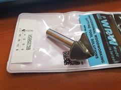 Фреза WPW VG90275B паз V 90 гр. для сгибания гипсокартона толщиной 12,7 мм D26 B12,7 хвостовик 8