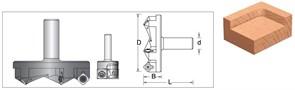 Фреза концевая для Слэбов D=63x66мм S=12мм со сменными ножами Arden