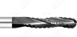 Фреза спиральная длинная для ЧПУ Z3 (стружколом) торец полукруг AlTiN Rotis