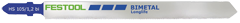 Пилки для лобзика  HS 155/1,2  BI/5 (уп.5шт). Festool
